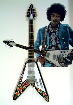 Jimi Hendrix flying V guitar. Not sure this one is for me but who would argue with Jim  Hendrix.