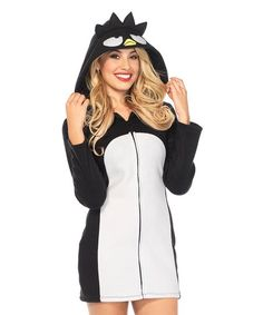 Badtz-Maru Cozy Halloween Costume for Women. Get the party started with this Sanrio Badtz-Maru Halloween costume set showing off a festive design.  | Hello Kitty Sanrio Characters | Hello Kitty Halloween Costume |  #affiliatelink #ad #hellokitty #sanrio #characters #Badtz #penguin #plush #halloween #Costume #women #party #kikilovestopin