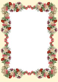MeinLilaPark – DIY printables and downloads: Free printable vintage flower stationery - ausdruc...