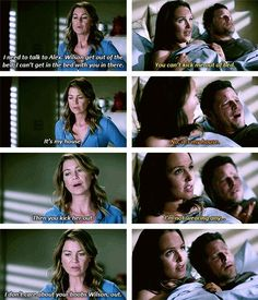 Grey's Anatomy. Meredith/Alex/Jo. 11x01 Did anyone else get annoyed with Meredith in the episode? Greys Anatomy Episodes, Greys Anatomy Funny, Greys Anatomy Cast, Grey Anatomy Quotes, Greys Anatomy Couples, Alex And Meredith, Alex And Jo, Meredith Grey, Grey Quotes