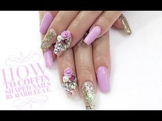 How To: ♡Coffin Shaped Nails♡ - YouTube