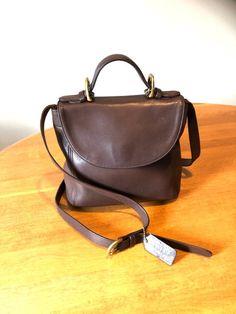 Coach Handbag Vintage Soho Top Handle Bag Brown Leather Crossbody Purse 461decce44