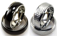 Stainless Steel Rings: 5.99 + FREE Shipping! ~ at TheFrugalGirls.com #wedding #rings