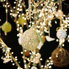 Flowers aren't the only table centers that have the 'pretty factor' - take some inspiration from these tree decors