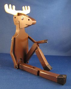 Limberjack Dancing Moose by prairiewindtoys on Etsy