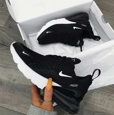 Nike Air Max 270 in black - one of the most popular sneakers this year! - Everything is here - Nike Air Max 270 in black – one of the most popular sneakers this year! Nike Air Shoes, Sneakers Nike, Yeezy Sneakers, Cute Nike Shoes, Nike Shoes Outfits, Nike Shoes For Women, Nike Clothes, Ladies Shoes, Sneakers Workout