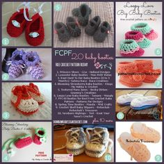 20 Free Crochet Patterns for Baby Booties (FCPF) #freecrochetpatterns #baby #booties