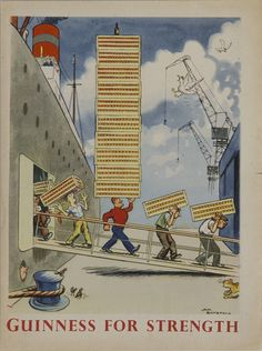 Vintage Guinness Advertisement - Dock Workers