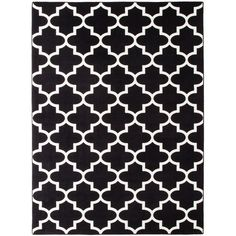 Threshold Fretwork Area Rug - Black ($160) ❤ liked on Polyvore featuring home, rugs, threshold area rugs, multi-colored rug, threshold rug, black mat and stain resistant area rugs