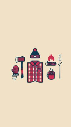 Winter Is Coming, Zach Graham, Lumberjack illustrations. Great use of pattern for texturizing. Gravure Illustration, Illustration Art, Winter Illustration, Camping Rustique, Affinity Designer, Art Graphique, Winter Is Coming, It's Coming, Belle Photo