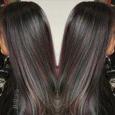 Oilslick hair color! Accomplished at Robin &Co in Christiansburg va by Jessica Mcpeak