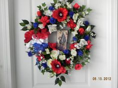 patriotic wreath for  Veterans Day military  by BountifulBouquets, $75.00