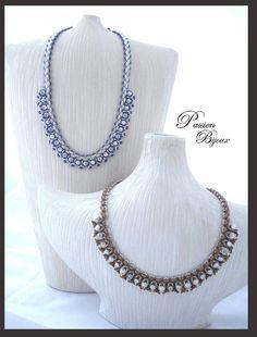 SCHEMA / PATTERN / UITLEG / TUTORIEL COLLIER DANAËLLE en PDF : Tutoriels de fabrication par passion-bijoux