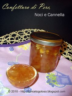 Confettura di pere, noci e cannella