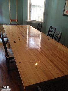 Bowling lane table