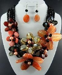 Gorgeous semiprecious jewelry - skip those earrings and wear with an understated white dress