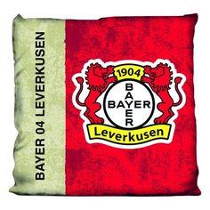 Kissen Used Bayer 04 Leverkusen - #Bundesliga, Fußball, #Soccer, #Fanartikel, #Bett, Schlafzimmer - http://www.multifanshop.de