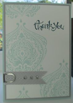 Stampin' Up UK Demonstrator Sarah-Jane Rae Cards and a Cuppa blog: Beautifully Baroque Thank-you
