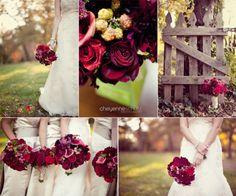 Mackenzie's Burgundy Red Purple & Pink Orchard Wedding Inspiration Board | Afloral.com Wedding Blog