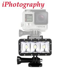 Waterproof High Power Dimmable LED Video POV Flash Fill Light Night Light for GoPro Hero