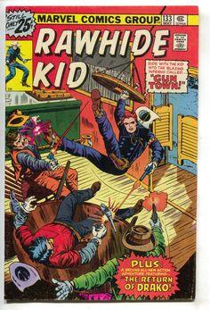 Rawhide Kid 133 Marvel 1976 FN VF 62 Cowboy Western Saloon Bar Shootout
