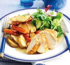 Speedy roasted chicken and vegetables | Healthy Food Guide