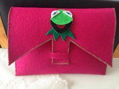 Kermit çanta. Keçeden.