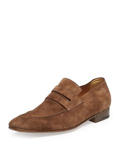 Andy Suede Penny Loafer, Brown by Berluti at Bergdorf Goodman.