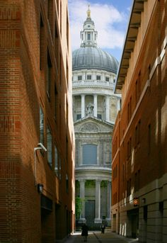 St Paul's Cathedral from Paternoster Square, London. I have this same photo taken by my husband.