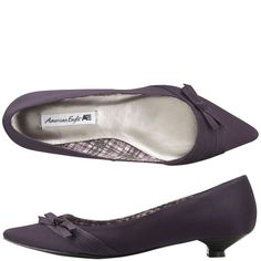 kitten heel purple retro shoe