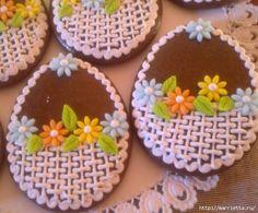 Красота и мастер-класс . Atelier de beauté et peinture Flower Cupcakes, Flower Cookies, Easter Cookies, Royal Icing Cookies, Sugar Cookies, Biscuits, Biscotti Cookies, Holiday Cakes, Cookie Designs