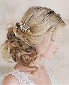 romantic bridal updo ~  we ❤ this! moncheribridals.com