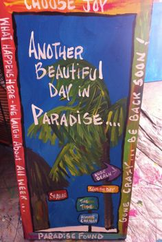 LARGE Another Beautiful Day in Paradise Classic RhondaK by RhondaK, $125.00