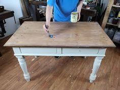Vernici o pitture per il legno-artedelrestauro.it Chalk Paint, Decoupage, Homemade, Table, Diy, House, Painting, Vintage, Furniture