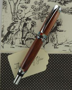 Handcrafted Wooden Pen Hand Turned from Red by MikesPenTurningZ, $69.00