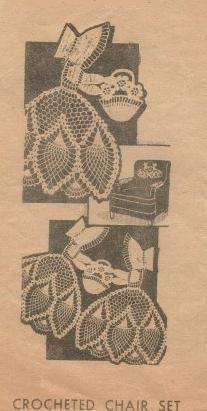 Crochet Pineapple Ladies Chair Set