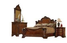 A.R.T. Furniture Old World Queen Bed/Dresser/Mirror/Nightstand
