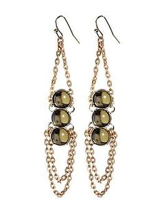 Sabine Three Cabochon Drop Earring | Piperlime