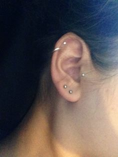 Tragus piercing :)