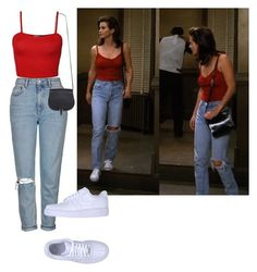 """Monica Geller style"" by palatob on Polyvore featuring Topshop, NIKE, BCBGMAXAZRIA and WearAll"