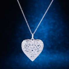 Verzilverd ketting, zilveren hanger mode-sieraden, Cordiform hollow shiny/van gfwaoxda hxeaqola LQ-P218