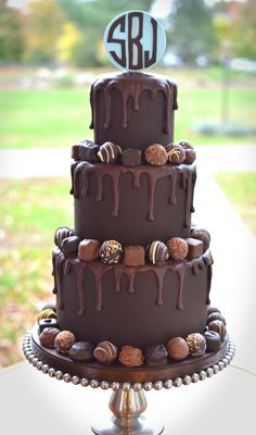 Dreamy Drippy Chocolaty Bat Mitzvah Cake on Cake Central