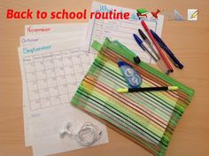 A pen to Neverland : BACK TO SCHOOL ROUTINE