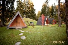 Glamping Bled, Slovenia. Eco village near the lake Bled.