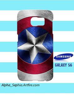 Captain America Shield Avenger Samsung Galaxy S6 Hardshell Case Cover