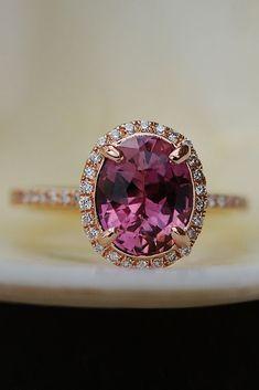 Eidel Precious Sapphire Engagement Rings ❤️ Eidel Precious engagement rings halo oval cut rose gold ❤️ See more: http://www.weddingforward.com/eidel-precious-engagement-rings/ #weddingforward #wedding #bride - SIMPLY STUNNING!! 💞