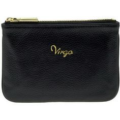 "Rebecca Minkoff Zodiac ""Virgo"" Cory Pouch. Cool leather ""Virgo""!zodiac Coin pouch. 4"" high, 6"" long, 1/2"" deep. Nylon lining. Zip closure. Leather and gold-tone hardware. Rebecca Minkoff Bags Wallets"