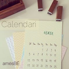 2015 calendar :: stamps and printed papers' mrwonderful