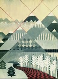 pattern mountain painting