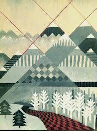 pattern mountain painting